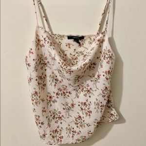 Forever 21 Summer Floral Camisole In Pink